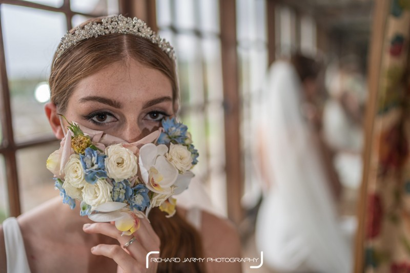 Richard Jarmy Photography at Cley Mill - Floral face mask - Charlotte Staff Flowers